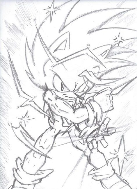 Hyper Sonic Coloring Pages Azar
