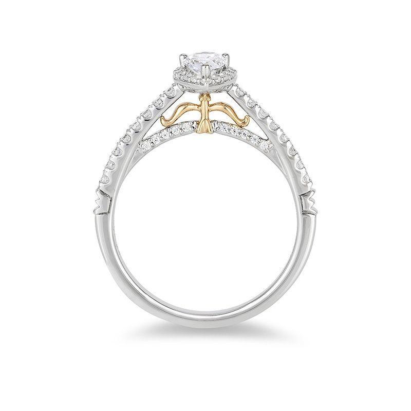 Enchanted Disney Merida 1 2 Ct T W Pear Shaped Diamond