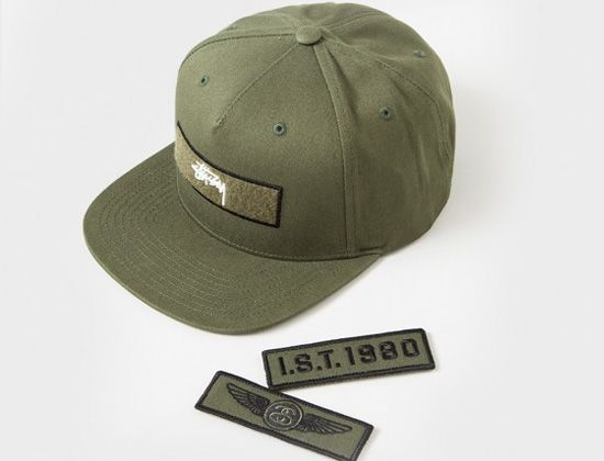 Velcro Patches Strapback Cap by STUSSY  49daf96b96a9