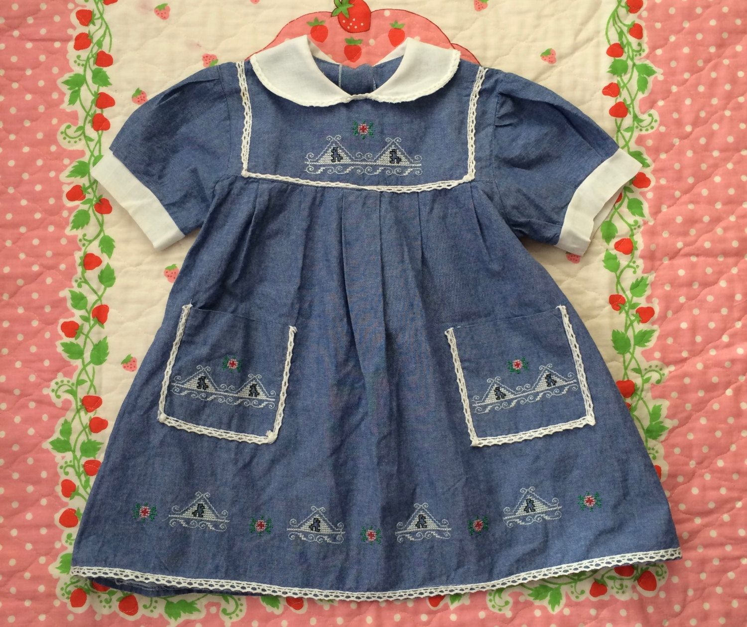 Embroidered Dress 4t By Lishyloo On Etsy