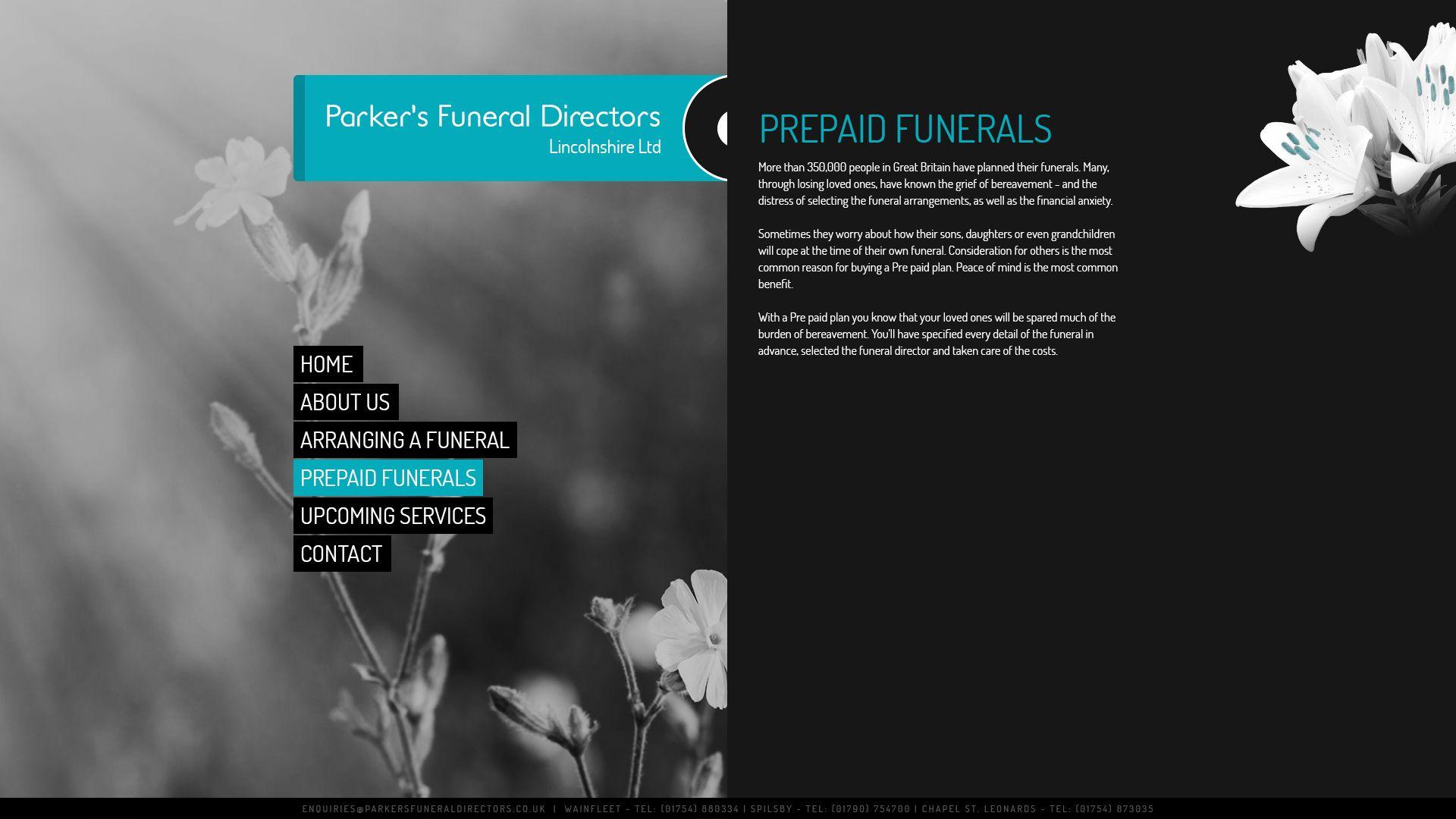 7 best parker s funeral directors funeral website images on