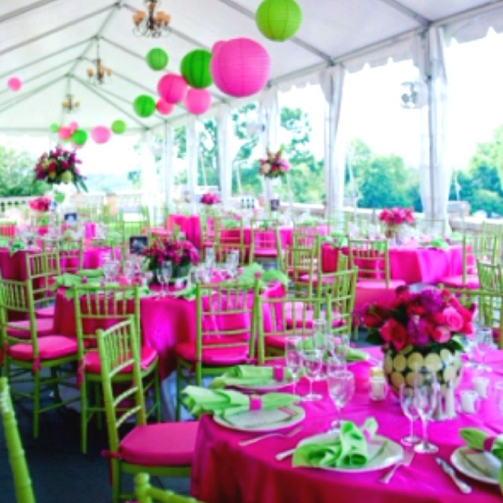 Pink And Green Outdoor Wedding Decor Ideas | wedding colors ...