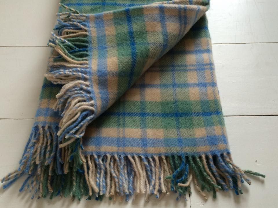 100 Pure New Wool Throw Cottage Blue Perfect For The Home And Taking To Picnics And Camping Wool Throw Blue Throws Pure Products