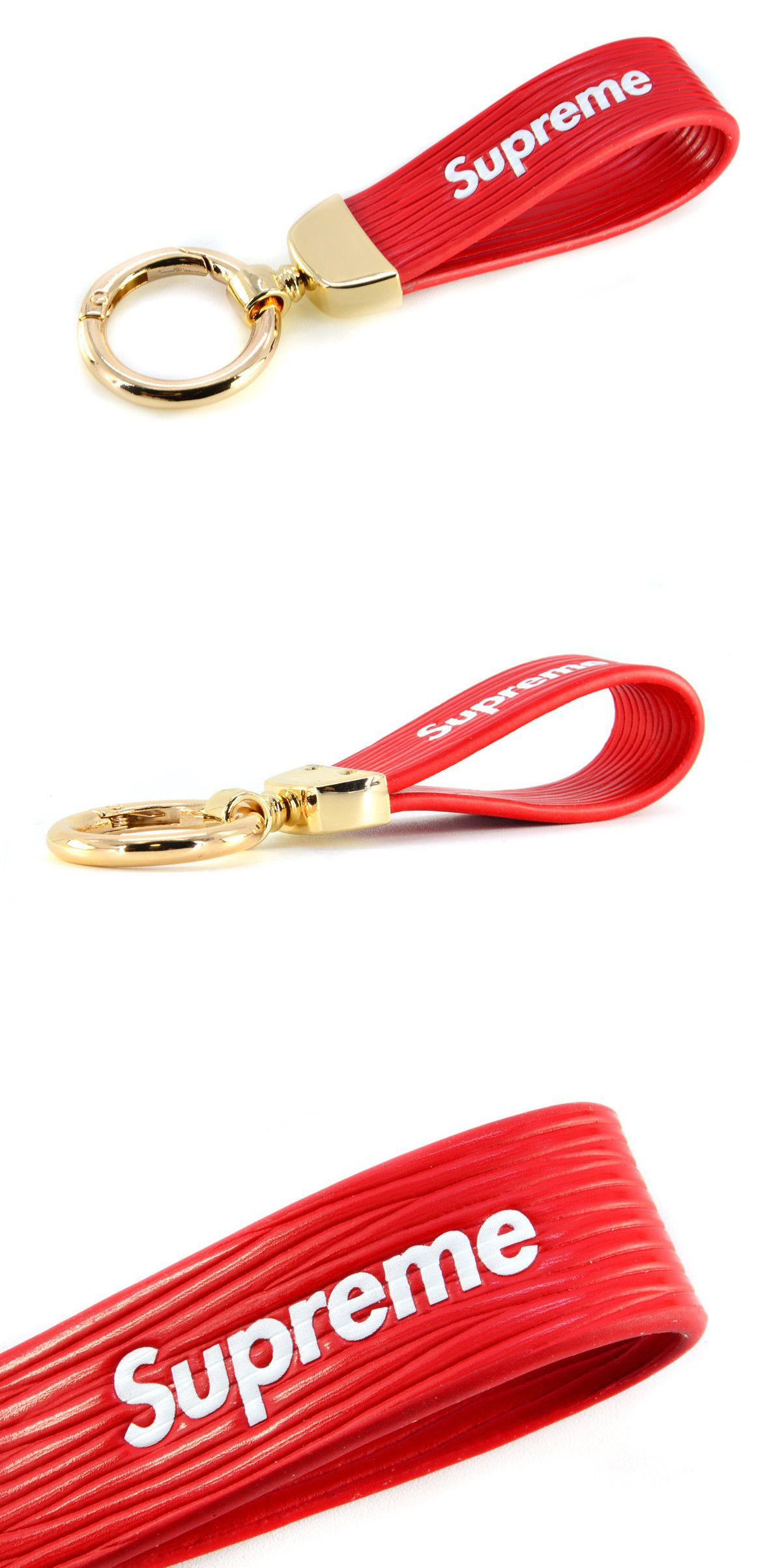 ea9a84d0f Key Chains 169280  Brand New Supreme Red Metal Leather Key Chain Ring  Keyfob Car Keyring Keychain -  BUY IT NOW ONLY   15 on  eBay  chains  brand   supreme ...