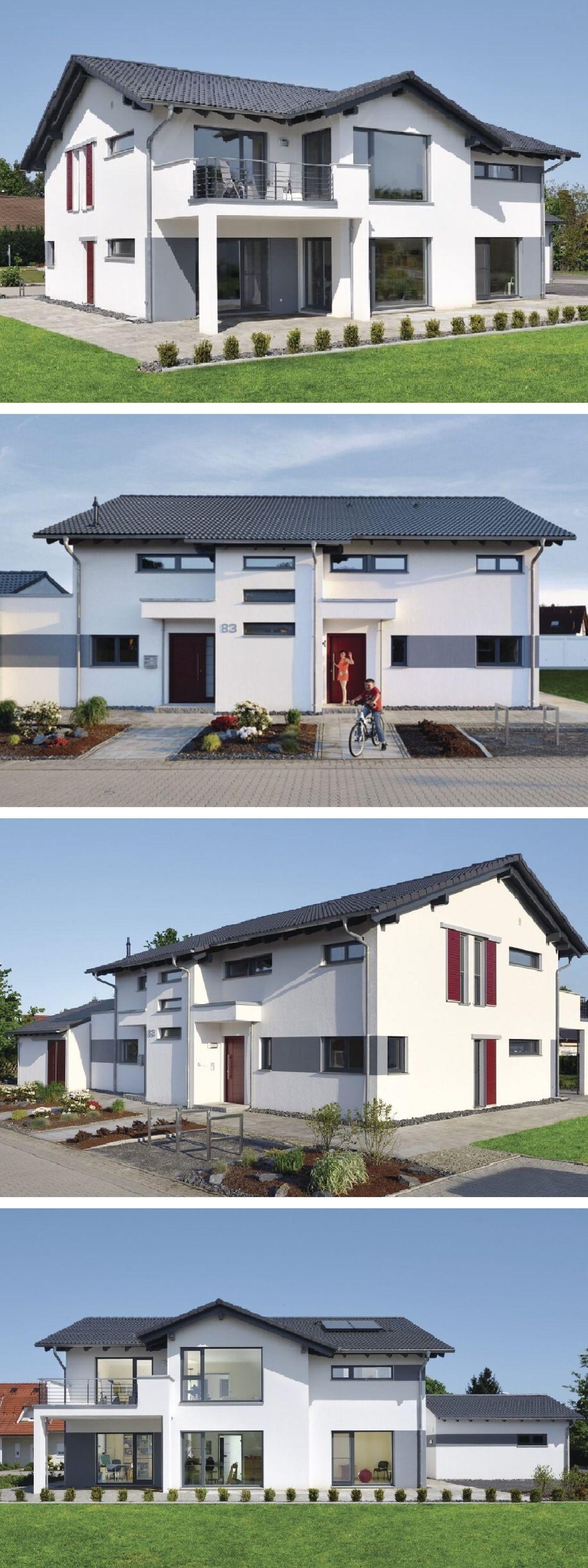 Modernes Einfamilienhaus Mit Garage, Büro Anbau U0026 Satteldach Architektur    Haus Bauen Ideen WeberHaus Massivhaus