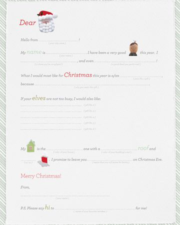 Easy Christmas Ideas From A To Z  Santa Printable Letters And