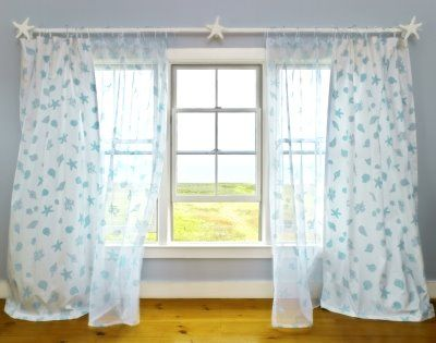 Seashell Inspired Window Treatments Beach Cottage Decor Window Treatments Coastal Decor