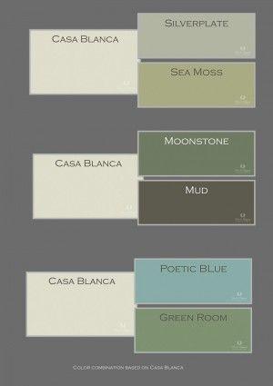 Wit weerkaatst het licht optimaal en in combinatie met for Grijs groene muurverf
