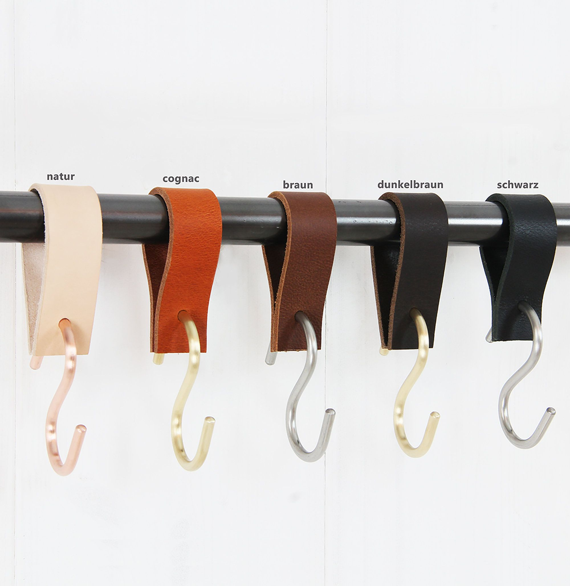 S Hooks Copper Brass Stainless Steel Leather Leather Straps