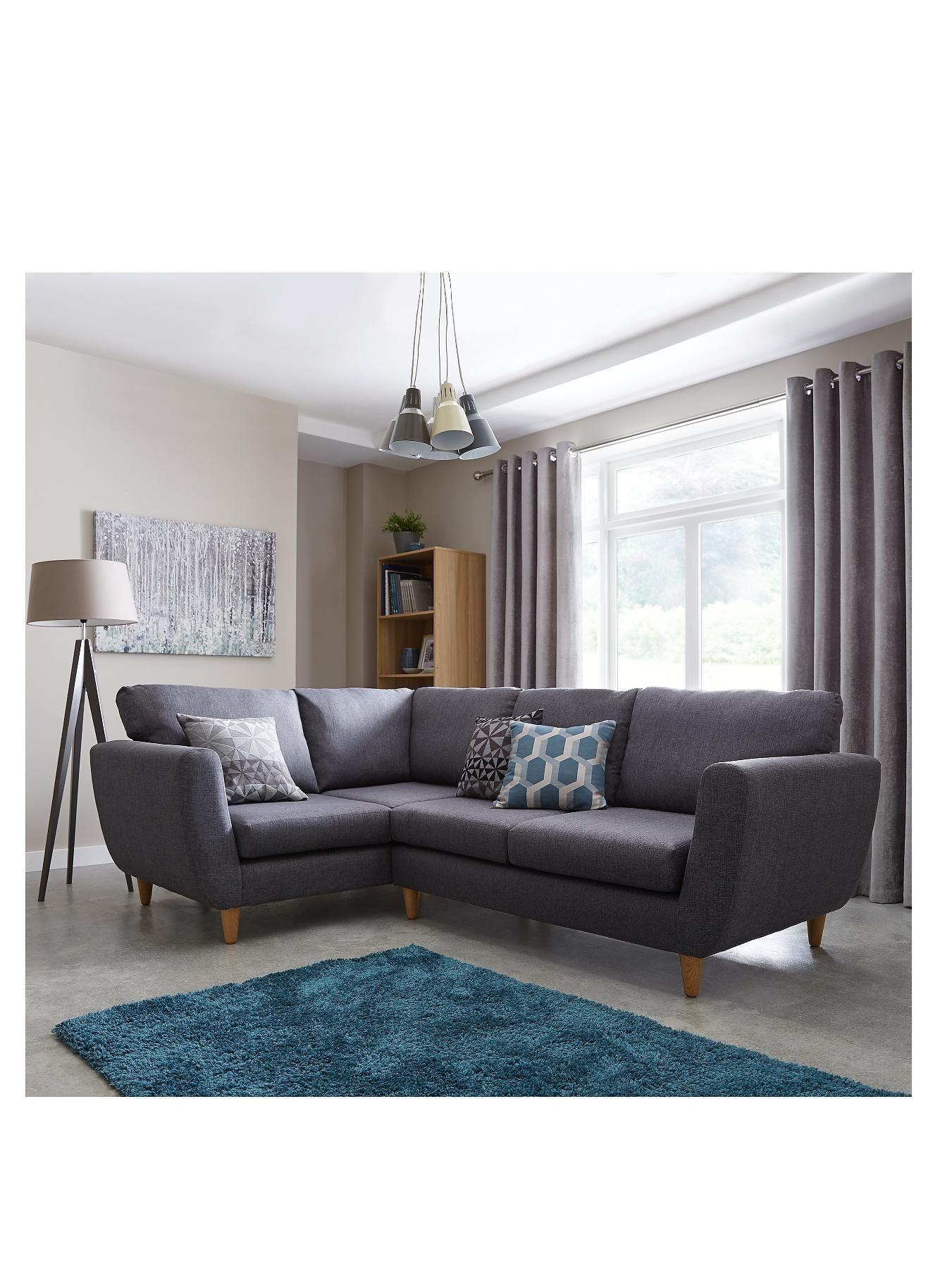 laurel left hand fabric corner group sofa