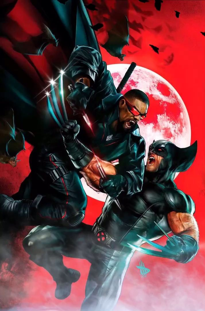Blade Vs Wolverine by Dave Wilkins