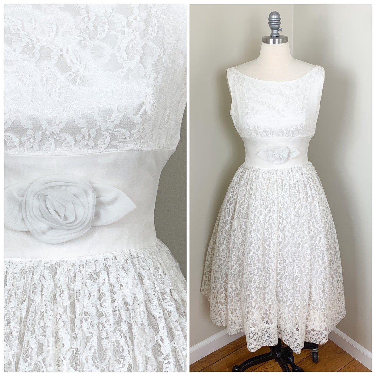 R E S E R V E D Vintage White Lace And Chiffon Sleeveless Etsy Short White Dress Wedding Wedding Dresses Vintage White Lace Dress [ 1242 x 1242 Pixel ]