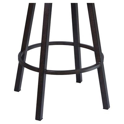 Madrid 26 Faux Leather Counter Stool - Brown - Armen Living