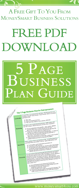free pdf download easy 5 page business plan template guide learn