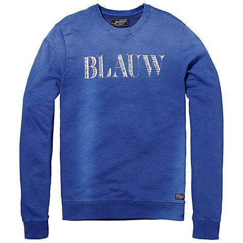 Scotch & Soda Amsterdams Blauw Sweatshirt