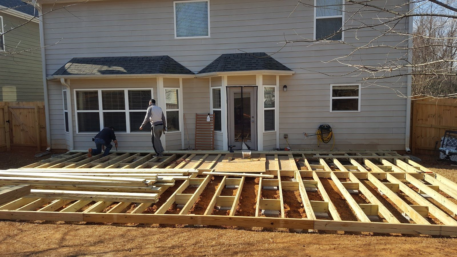 Diy floating groundlevel deck ground level deck how to