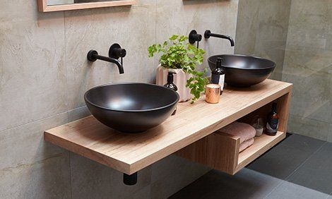 D I Y Floating Hardwood Vanity Bunnings Warehouse