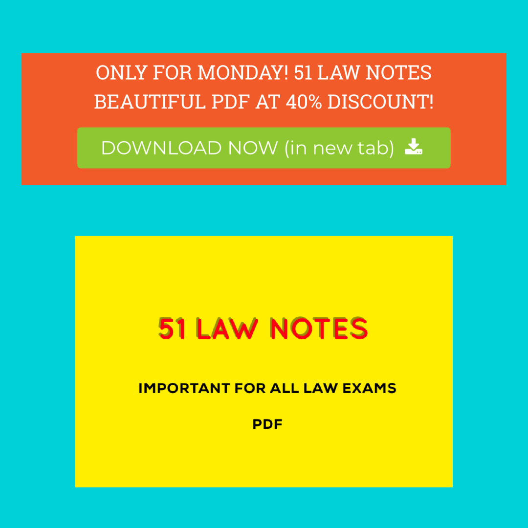100 Law Notes For Judiciary Clat And All Law Exams Law Notes Exam Notes