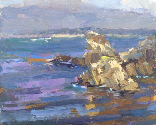 Seascape California 11 (sold) - http://rosepleinair.com/seascape-california-11/