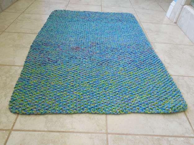 Cotton Bath Mat Free Knitting Pattern Knit Rug Bath Mat Diy Cotton Bath Rug