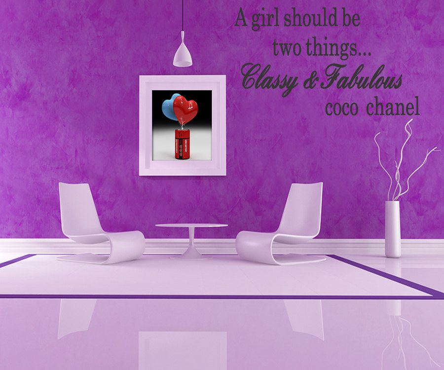 Classy And Fabulous Coco Chanel Wall Sticker Quote Remove Letters - Custom vinyl wall decals quotes how to remove