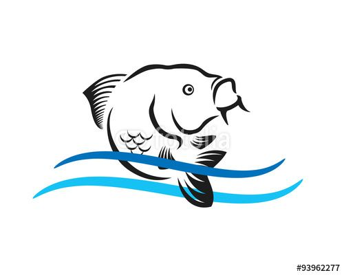 Fish Jump Stock Image And Royalty Free Vector Files On Fotolia Com Pic 93962277 Fish Silhouette Fish Jumps Fish