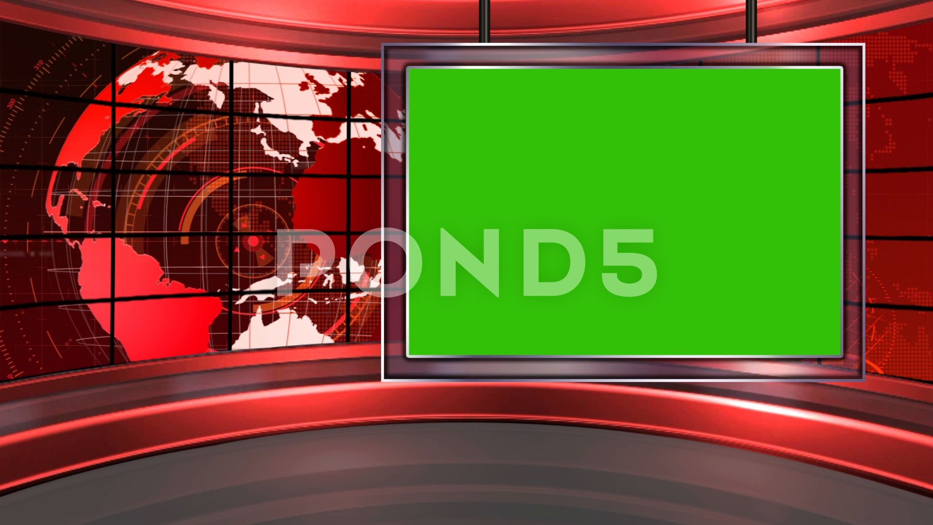 Hd News Tv Virtual Studio Green Screen Background Blue Colour With Globe Stock Footage Vir Green Screen Backgrounds Green Screen Video Backgrounds Greenscreen