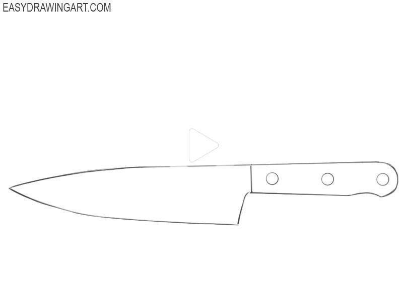 Como Dibujar Un Cuchillo Facil Facil Dibujo Del Arte Easy Drawings Drawing Lessons Drawings