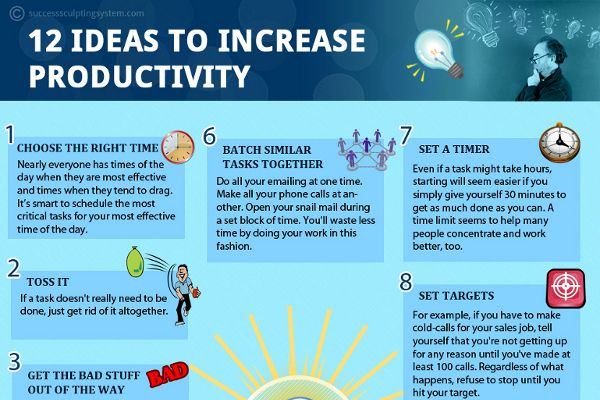 12 Great Tips To Increase Productivity At Work Increase Productivity Productivity Work