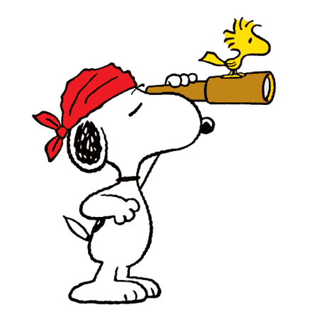Description: Arg! Snoopy is a pirate and Woodstock is his parrot in ...