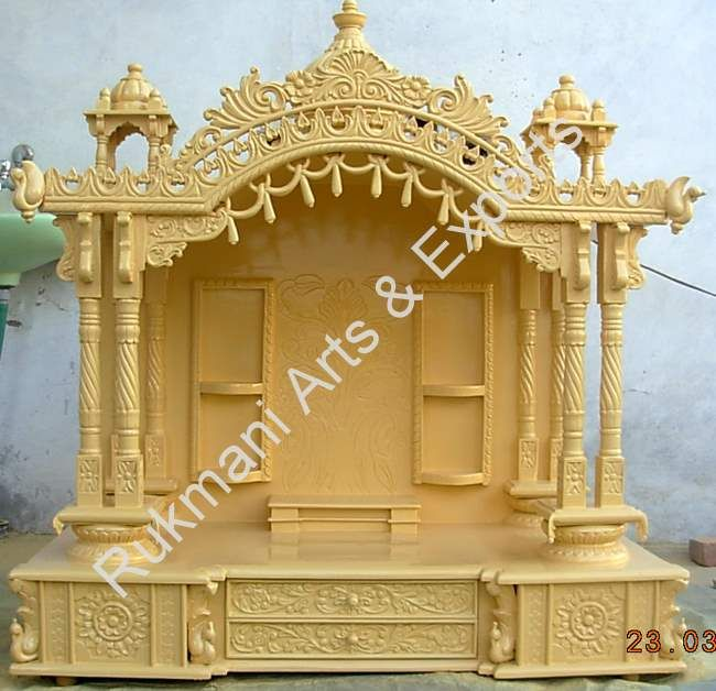 Puja room rukmani arts puja room in 2019 pinterest mandir design temple design for home for Marble temple designs for home