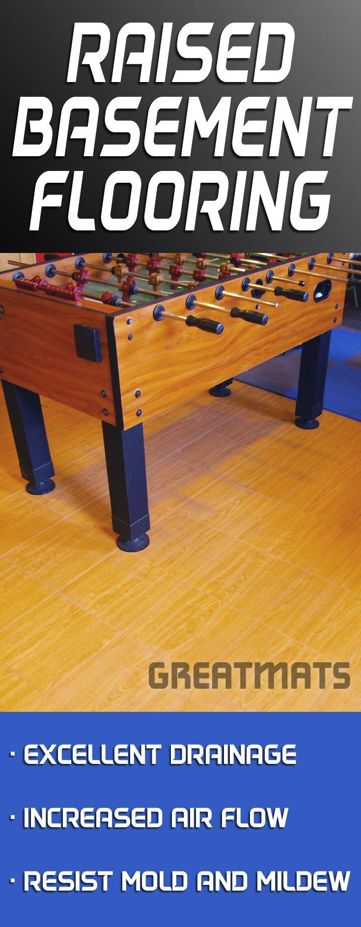 best flooring for damp basements with moisture problems basement rh pinterest com Wet Basement Raised Floor Tiles Pergo Basement Flooring