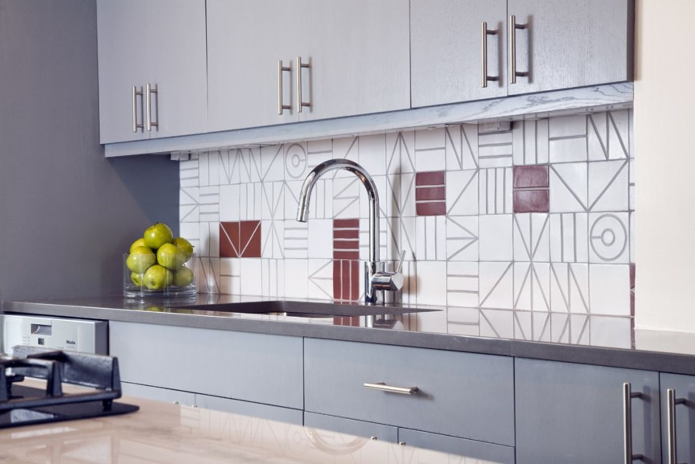 Porch Geometric Kitchen Tile From Wentworth Inc Kitchen Backsplash Tile Designs Kitchen Tiles Backsplash Unique Kitchen Backsplash