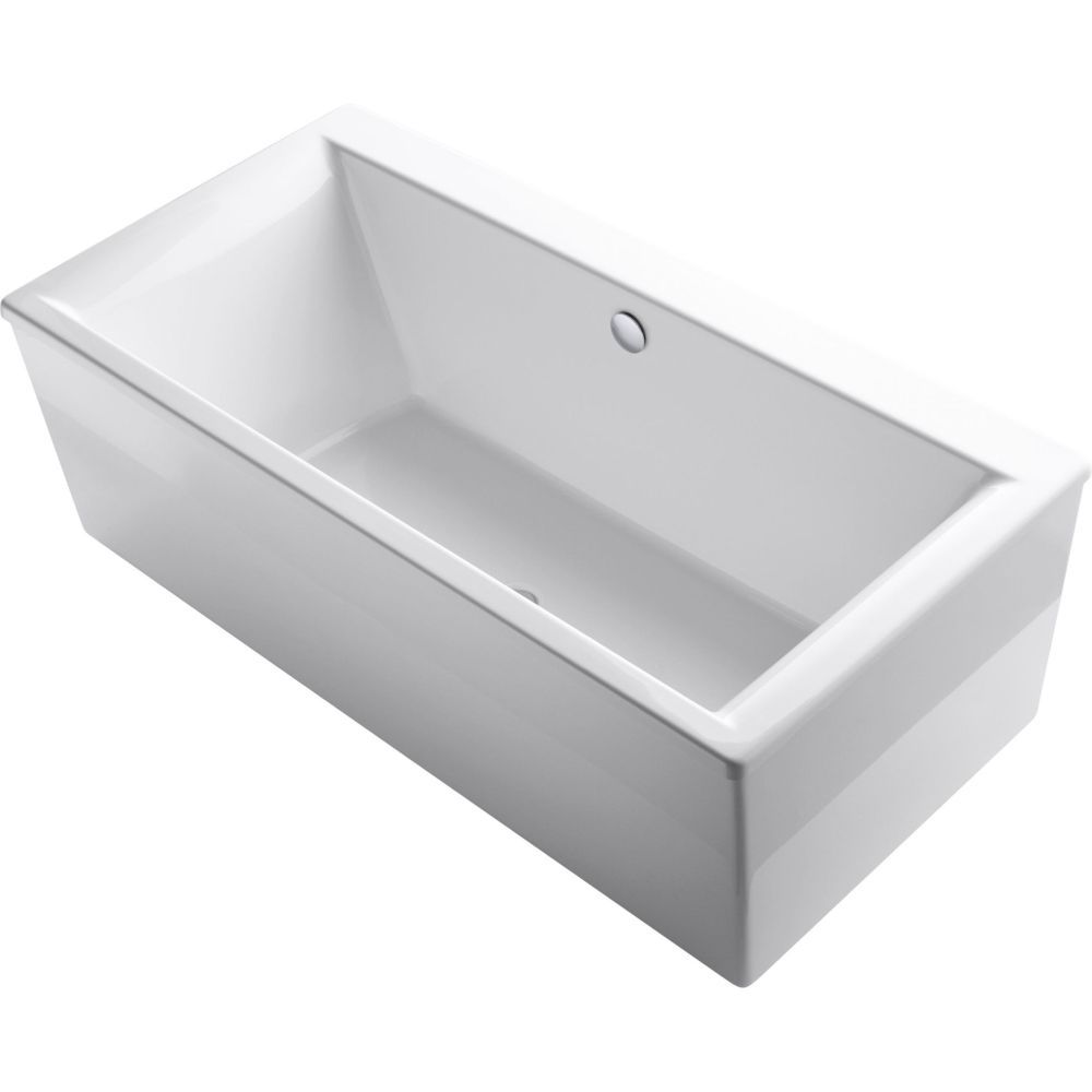 Kohler K 6366 0 Stargaze 6 Ft. Freestanding Acrylic Soaking Bath Tub With