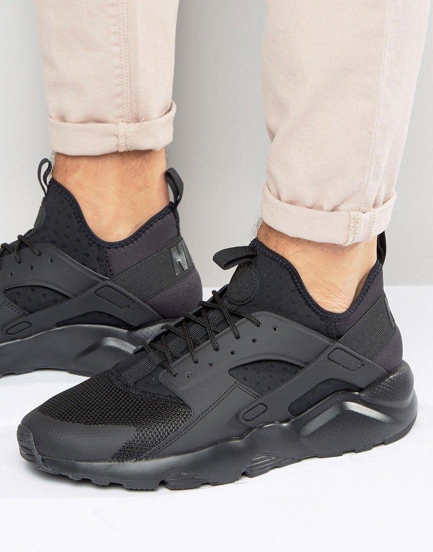 san francisco aa147 06de8 Nike+Air+Huarache+Run+Ultra+Trainers+In+Black+819685-002