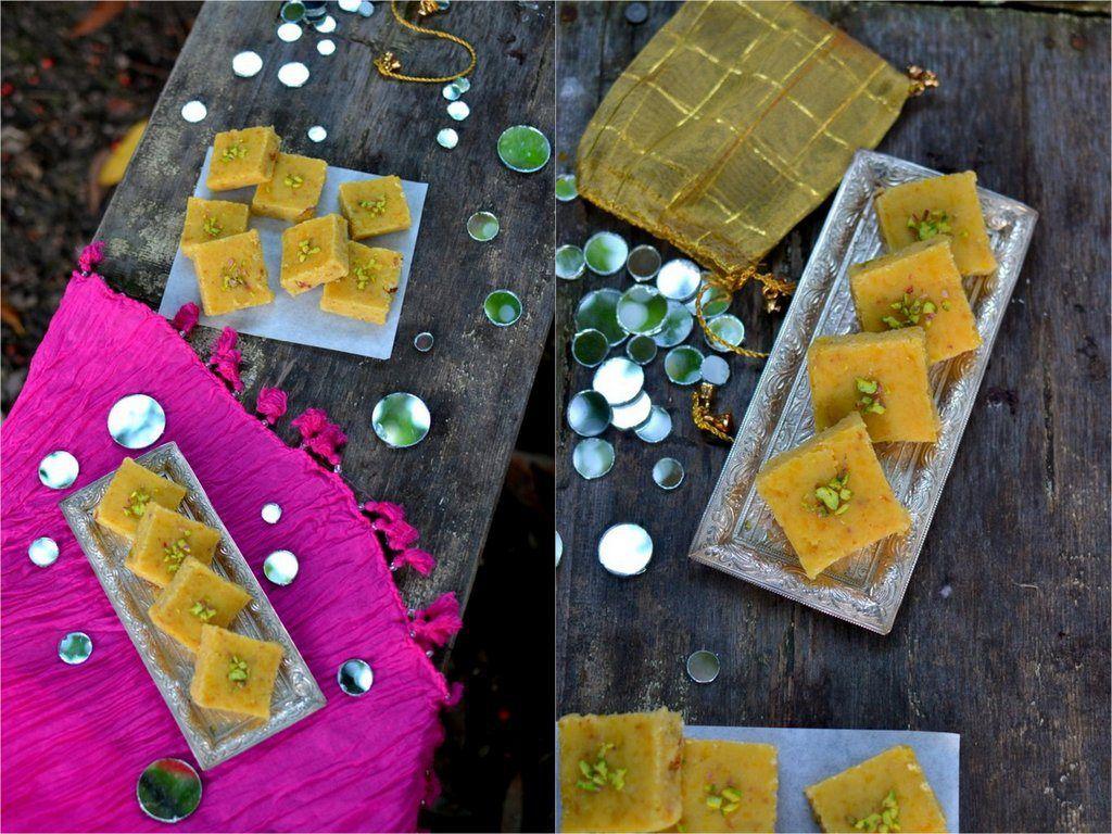 Chana Dal Burfi (Split Chickpeas Fudge)   Spice in the City