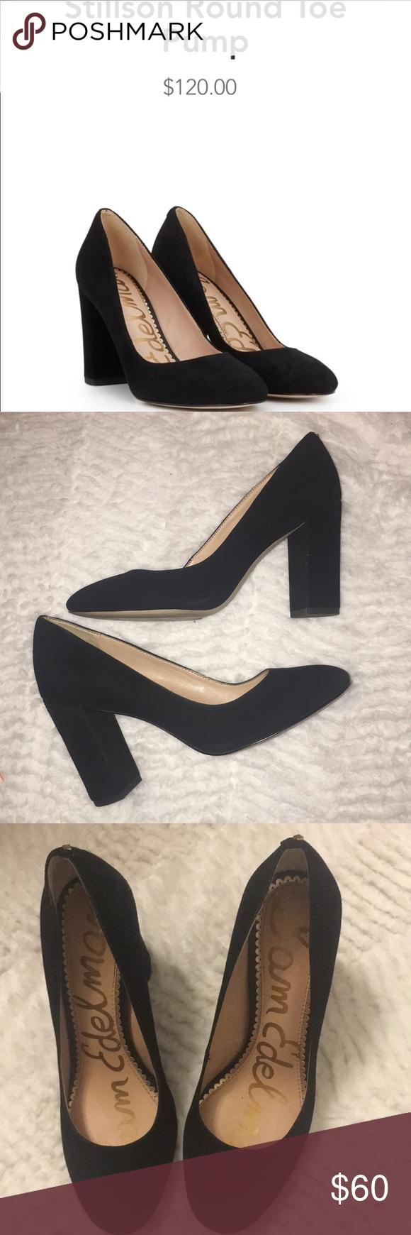 048d4f472ae9 Sam Edelman Stillson Black Suede heels size 6 Sam Edelman Stillson Black  Suede Round toe heel size 6. In preowned good condition. Sam Edelman Shoes  Heels