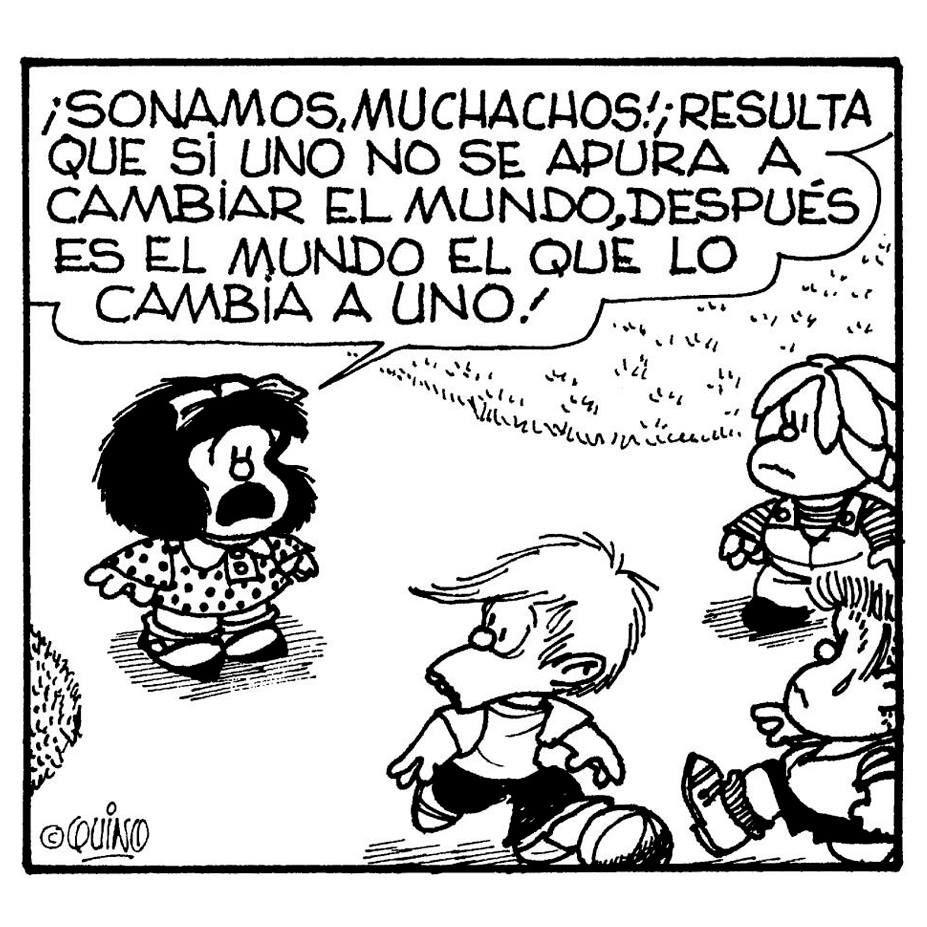 Mafalda on Twitter | Mafalda quotes, H comic, Words