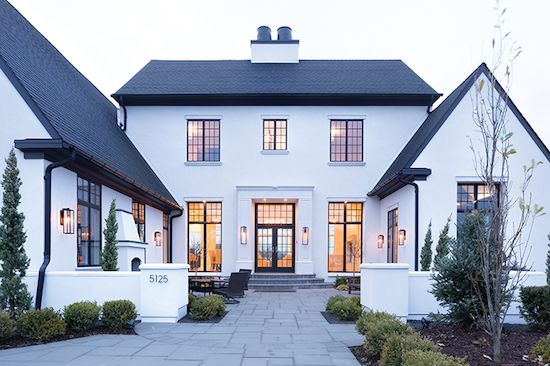 home tour black and white transitional chic outdoors in 2019 rh pinterest com