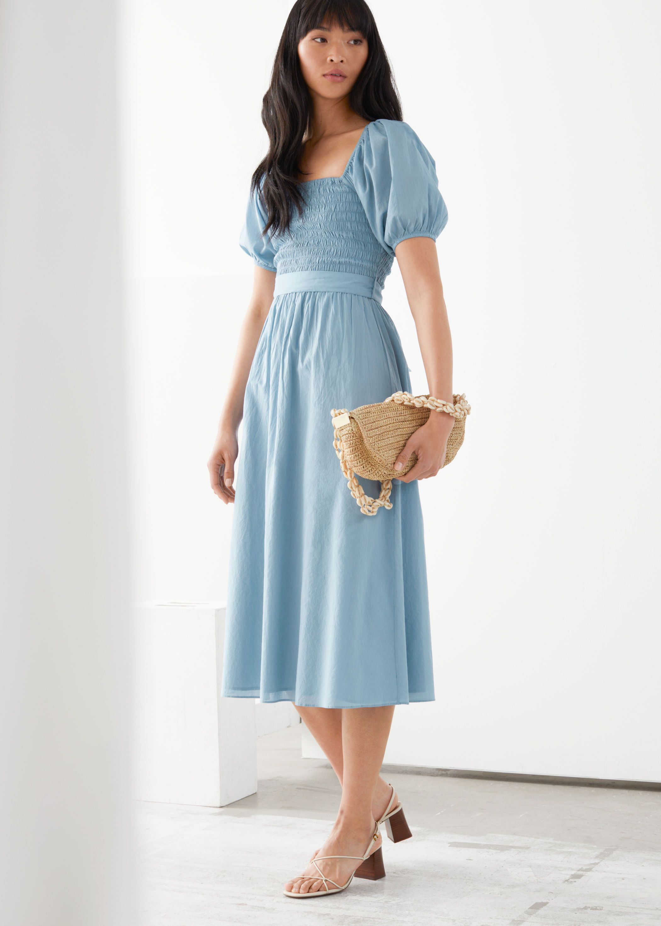 50+ Light blue midi dress information