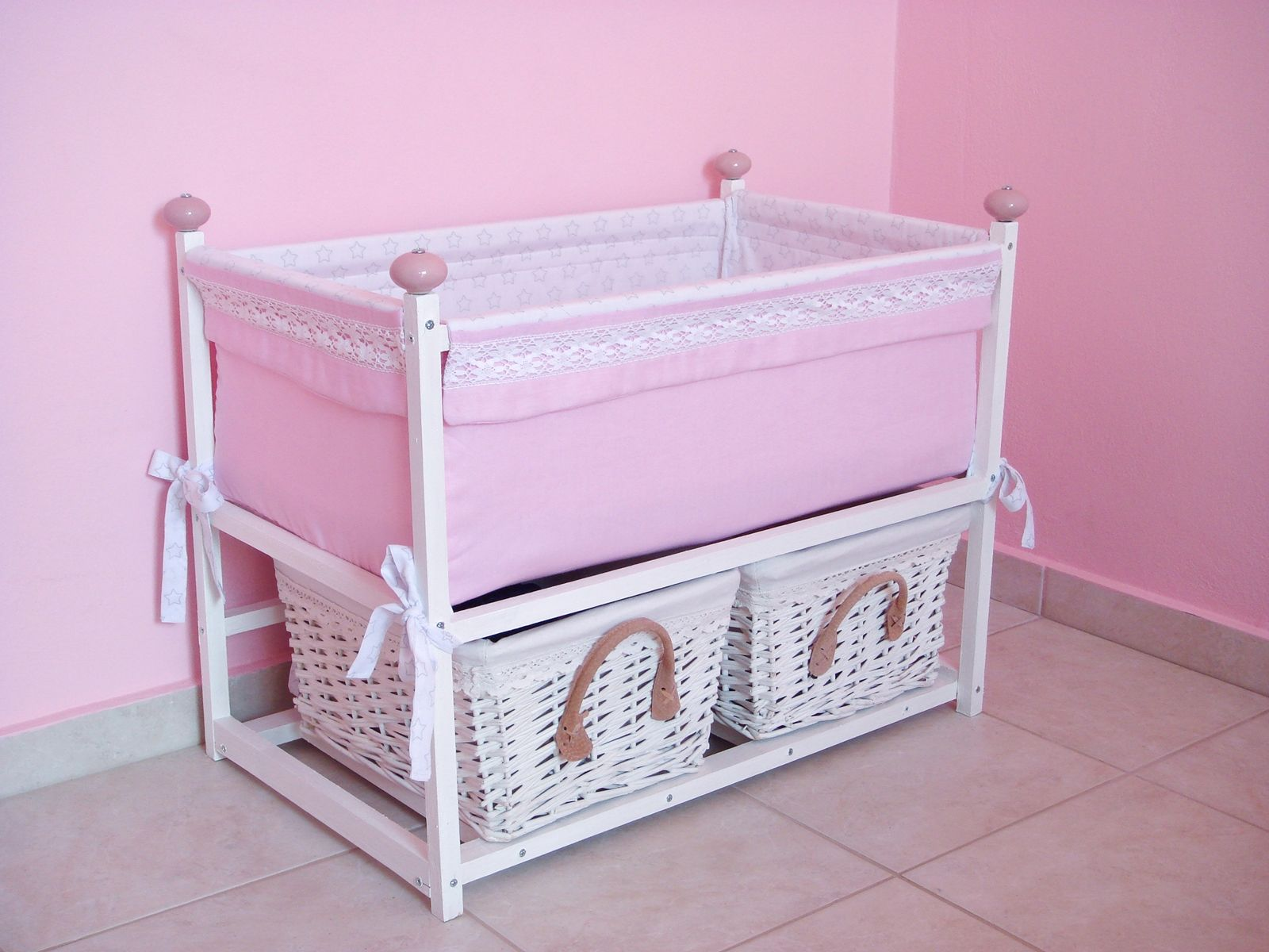 Diy Doll Basinet Crib Bed Size Of The Bed 60 Cm L