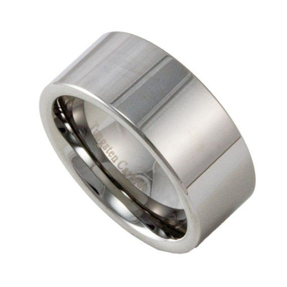 10mm Wide Mens Tungsten Wedding Band Custom Engraved Promise Ring Engraved Promise Rings Tungsten Wedding Bands Engraved Rings