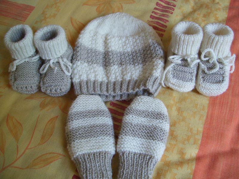 chausson bebe tricot debutant
