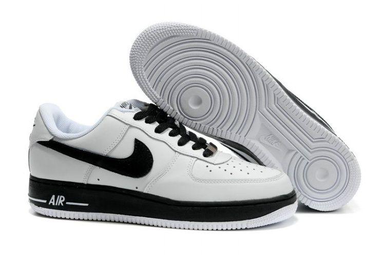 nike air force 1 25 basso sko herrer white velluto nero il logo 54766