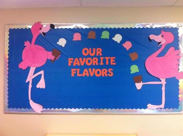 """Our Favorite Flavors!"" Bulletin Board Idea"
