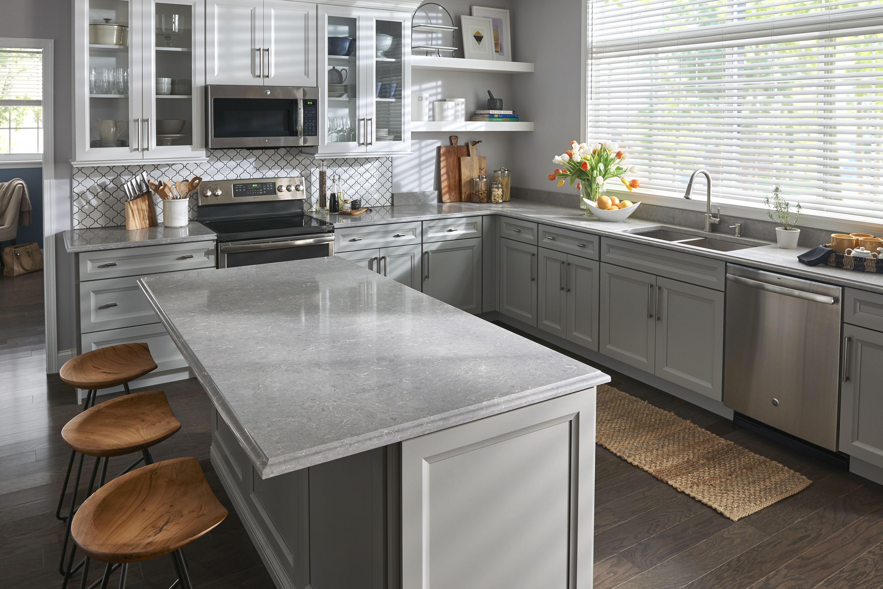 Small Kitchen Countertop Ideas Viatera Quartz Lento Viatera Quartz American Made