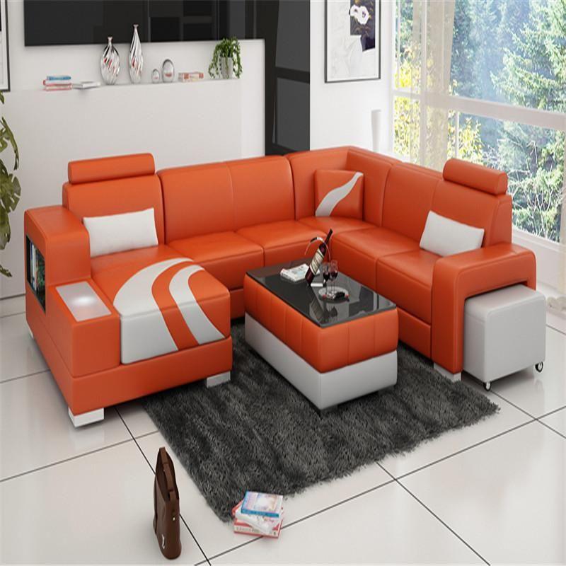 Living Room Furniture Leather Sofa Set Orange White Modern Sofa Living Room Living Room Furniture Styles Sofa Design #orange #leather #living #room #set
