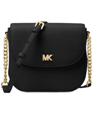 e162031722bc Michael Michael Kors Half Dome Crossbody - Black Gold. Michael Michael Kors  Pebble Leather ...