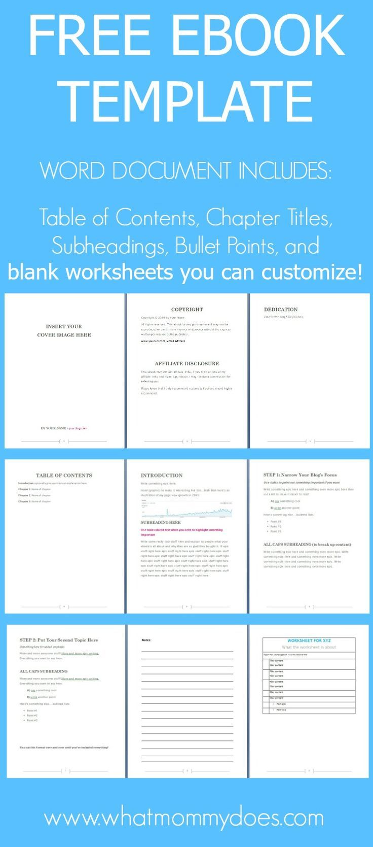 Free ebook template preformatted word document template free free ebook template preformatted word document maxwellsz