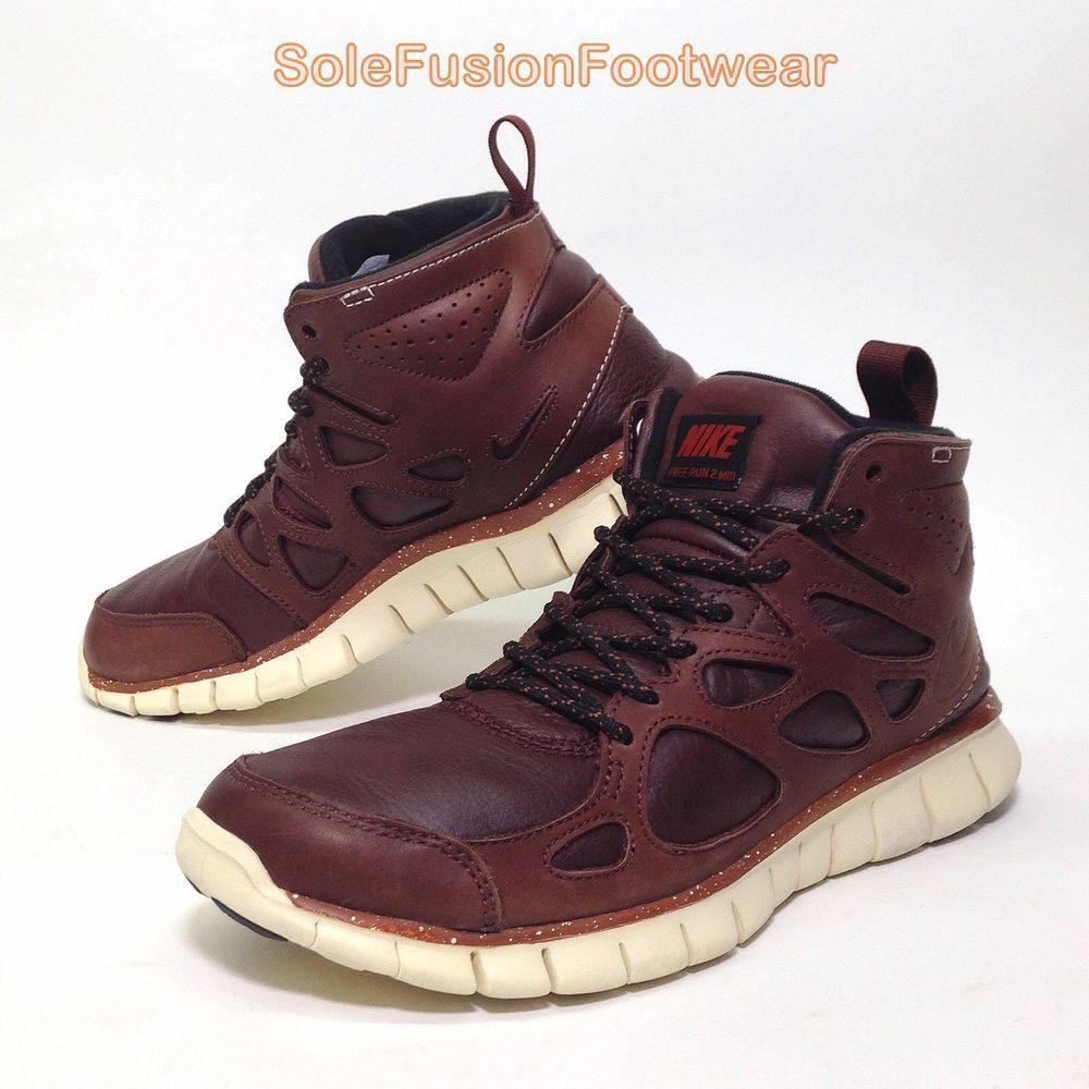 f836c10d03bf Nike Mens Free Run 2 Chukka Trainers Brown sz 7.5 Sneaker Boots US 8.5 EU 42
